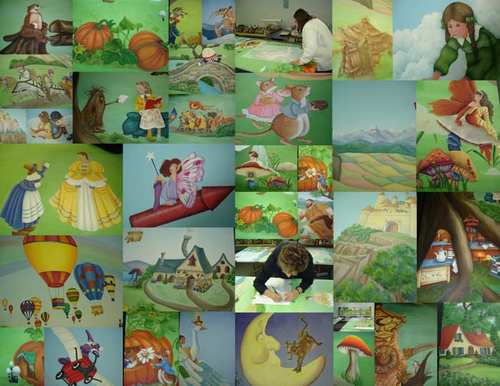 Montreal area decorative painters for Character mural